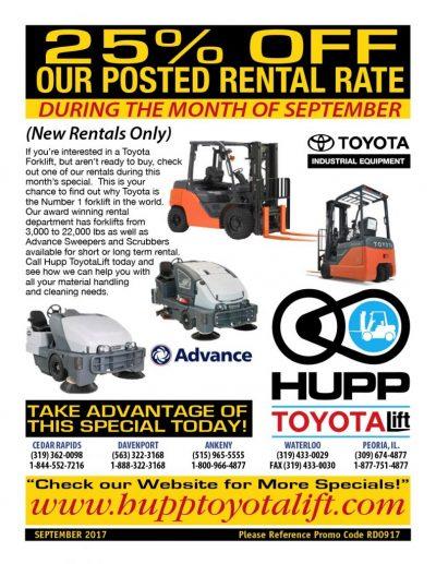 25% rental rate