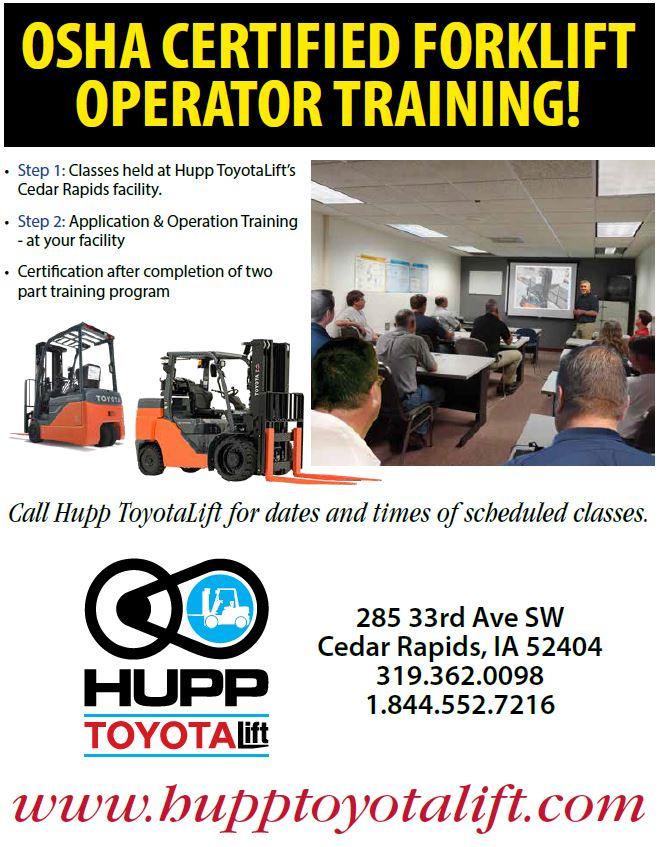 2018 Osha Training Hupp Toyota Lift