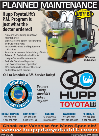 Hupp_ToyotaLift_Planned_Maintenance