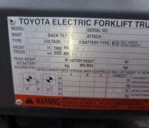 Toyota - 7FBCU15-67183