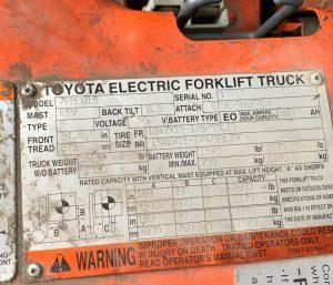 Toyota - 7FBEU15-10212
