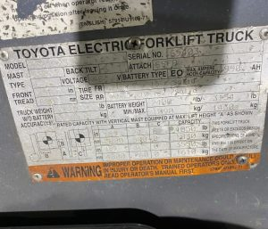 Toyota - 8FBCU25-69403